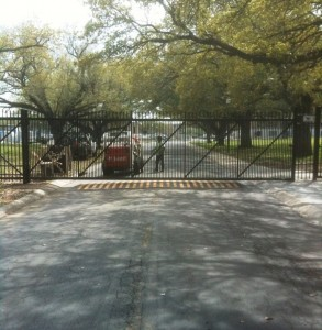 Sliding Security Gate - Electric Fence and Dog Fence